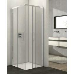 Cabina doccia CARLI Box 2 lati telaio alluminio