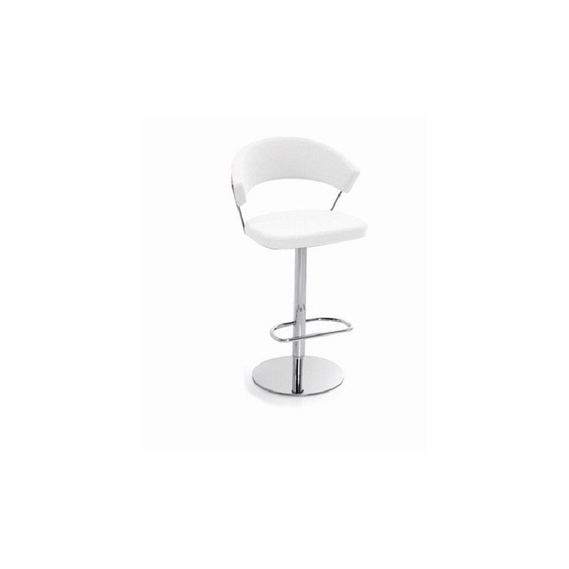 Sgabello NEW YORK Calligaris Connubia ECOPELLE Skuba  girevole CB1088-SK